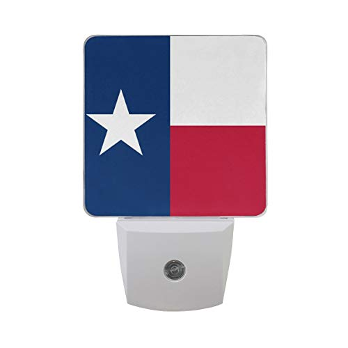 t of 2 Texas Flag National United States of America Patriotic Auto Sensor LED Dusk to Dawn Night Light Plug in Indoor for Adults ()