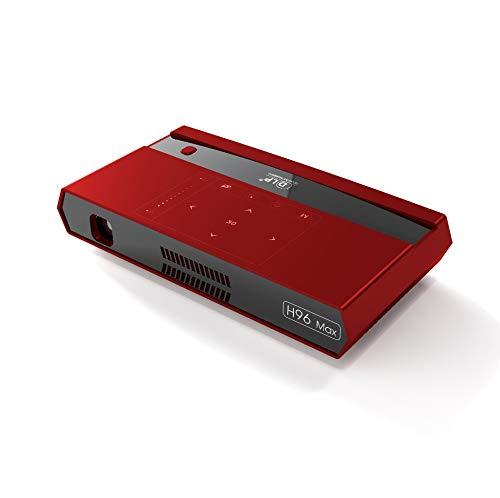 LanLan Videoproiettori H96 Max Micro Proiettore Office House 4K Home Theater HD Spina Rossa UE