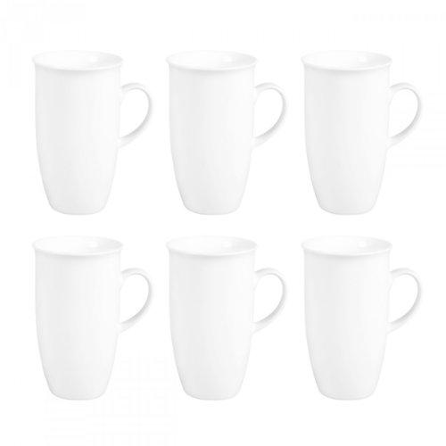 Flirt by R&B 078855 'Bianco' Kaffeebecher, Kaffeetasse XXL, 473 ml, weiß (6 Stück)