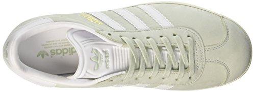adidas Gazelle, Scarpe da Ginnastica Basse Donna Verde (Linen Green/Footwear White/Cream White)