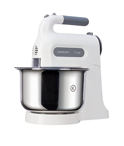 Kenwood HM680 Chefette Hand Mixer with Bowl - White - Stand Compact Mixer