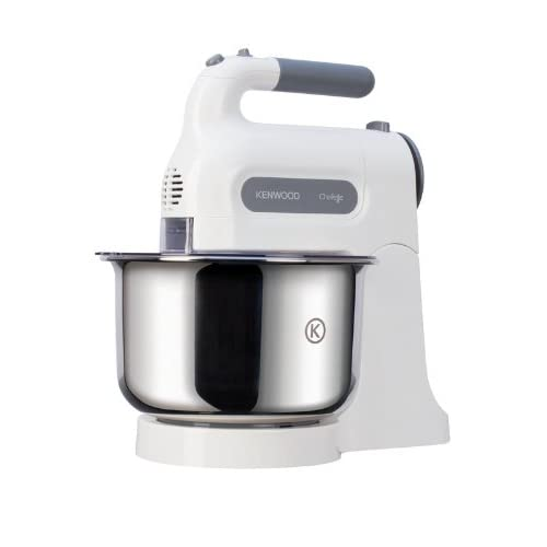 31VbWqF8WlL. SS500  - Kenwood Chefette HM680 Hand Mixer with Stainless steel Bowl, 5 speeds and pulse function,Stainless steel beaters and kneaders, 350W- White