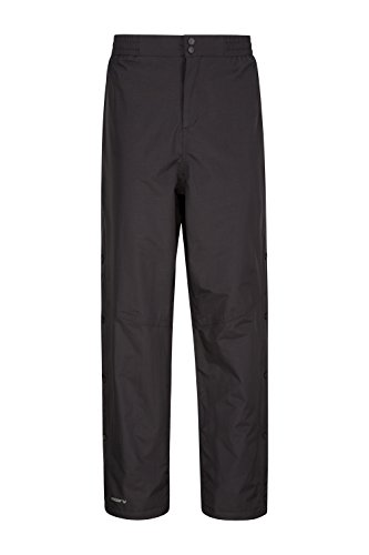 Mountain Warehouse Surpantalon imperméable Extreme Downpour Hommes - Pantalon de Pluie de Longueur Standard, Respirant, Coutures soudées - pour Les Voyages, Le Camping