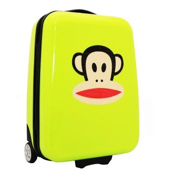 paul-frank-hot-lime-green-with-white-trim-suitcase-with-wheels