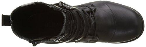 Bunker Kol-fr1, Bottes Motardes Femme Noir (Black)
