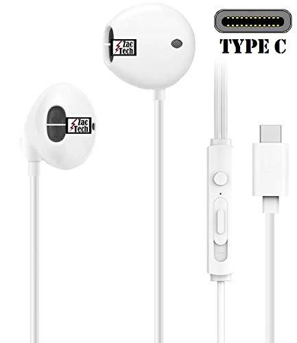 Zac Tech USB 3.1 USB C In-Ear Earphone Headset Compatible