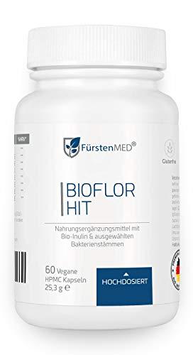 FürstenMED® Bioflor HIT - Lactobacillus und Bifidobacterium Kapseln bei Histaminintoleranz - 60 magensaftresistente Kapseln - Hochdosiert, Vegan & Ohne Zusatzstoffe - Hergestellt in Deutschland