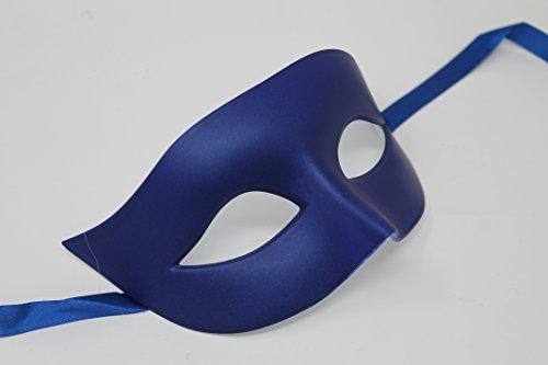 n und Damen Matt Blau Qualität Venezianische Maskerade Maske (Maskerade Masken Blau)
