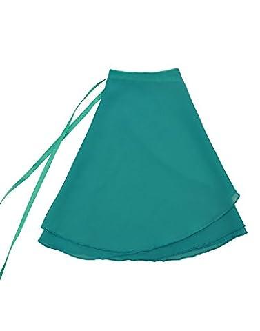 NawtyFox Light Teal Child Sheer Chiffon Wrap Skirt