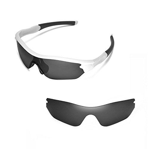 Walleva Ersatzgläser für Oakley Radar Edge Sonnenbrille- Mehrfache Optionen (Schwarz - polarisiert)