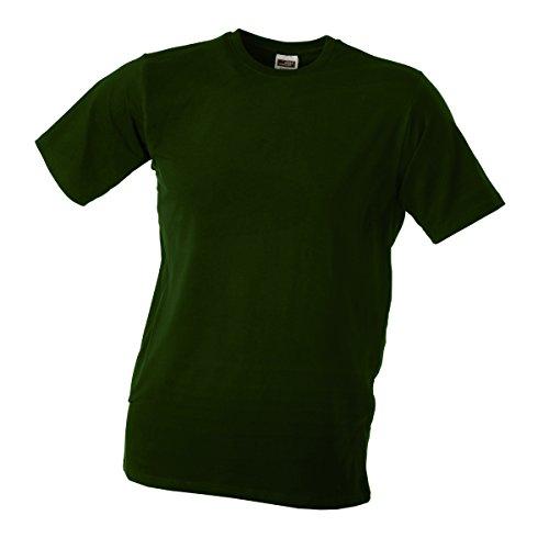 JAMES & NICHOLSON Herren T-Shirt, Einfarbig Olive