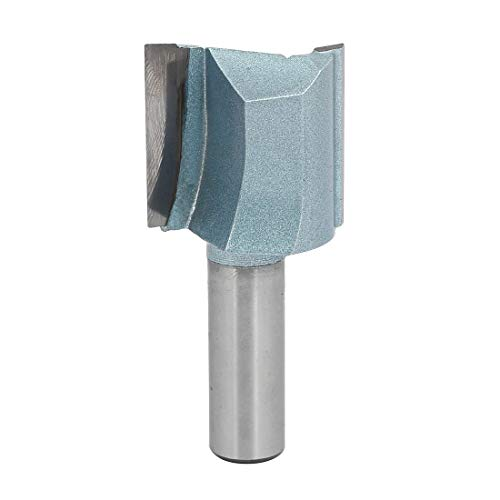ZCHXD 1-1/4-Inch Dia Carbide Double Flute Straight Router Bit with 1-3/16-Inch Length 1/2-Inch Shank -