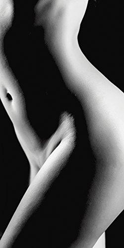 Artland Qualitätsbilder I Glasbilder Deko Glas Bilder 50 x 100 cm Liebe Erotik Frau Foto Schwarz Weiß B2YF Hübsche Junge nackte Frau_Schwarz Weiß -