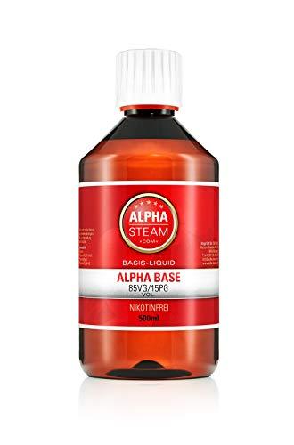 Alpha Cloud Base 85/15 500ml zum Mischen von E-Zigaretten Aromen 0mg/ml (ohne Nikotin)
