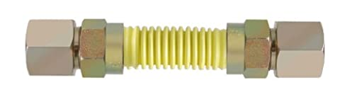 LDR 509 1560SSC Coated Flexible Gas Connector, 3/4-Inch FIP x 3/4-Inch FIP x 60-Inch, Stainless Steel Tube by LDR Industries