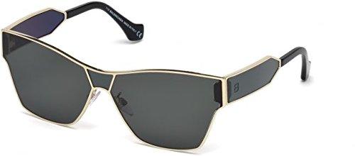 Balenciaga ba0095 67-011 33a, occhiali da sole donna, nero (schwarz), 60