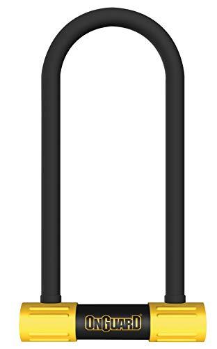 Onguard Smart Alarm U-Lock Diebstahlsicherung für Erwachsene, Unisex, Schwarz/Gelb, 124 x 208 mm - 16 mm -