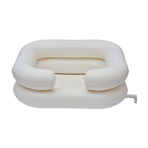 Kit lavacabezas hinchable | Contiene: cuenca, depósito de agua, manguera, protector y...