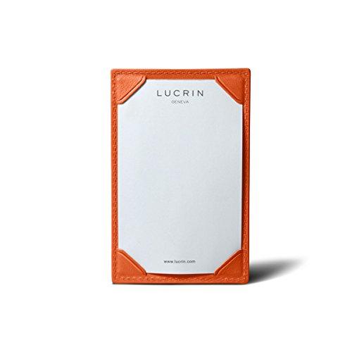 Lucrin - Ecritoire - cuir de vachette lisse - Naturel Orange