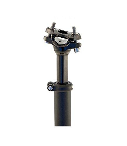 Tige de selle confort Professionnel Tranz x avec suspension amortissante en aluminium noir pour vélo 3448