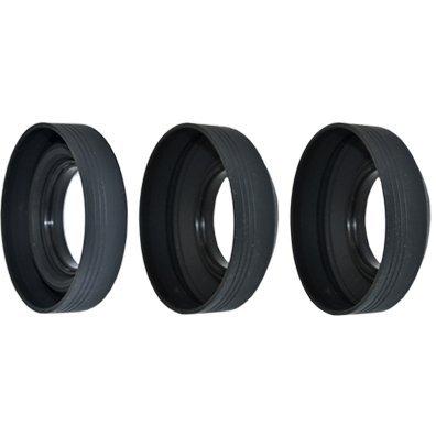 JJC Gummi Gegenlichtblende 62mm 3in1 Tiefe verstellbar Rubber Lens Hood Streulichtblende Sonnenblende Camera Lens Hood