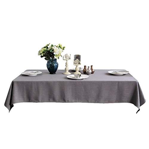 Nappe, Table Basse de Couleur Unie Nappe, Nappe en Lin Polyester (Couleur : Medium Gray, Taille : 140×140cm)