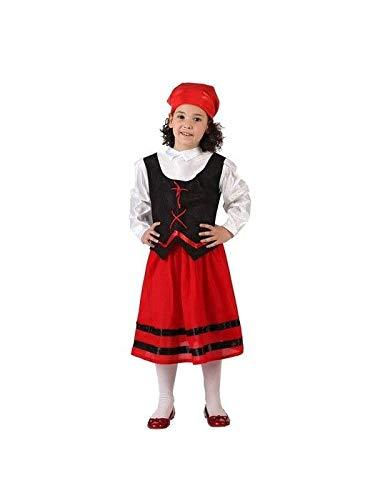 DISBACANAL Disfraz pastora roja niña - Único, 7-9 años