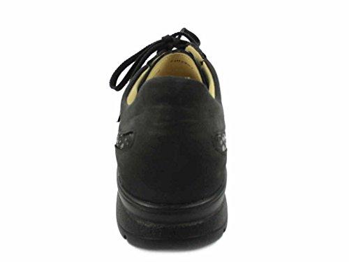 Finn Comfort 03750-901654, Scarpe stringate donna Nero