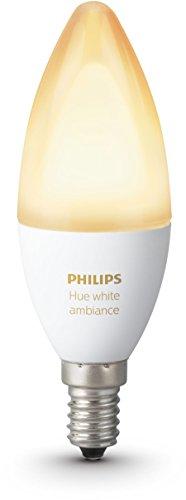 Philips Hue White Ambiance E14 LED Kerze Erweiterung, dimmbar, alle Weißschattierungen, steuerbar via App, kompatibel mit Amazon Alexa (Echo, Echo Dot)