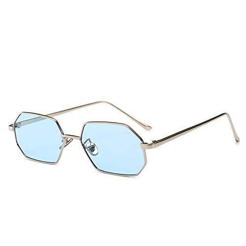 Sonnenbrille Vintage Kleine Octagon Sonnenbrillen Damen Blau Schatten Designer Fashion Square Metal Frame Sonnenbrille Rot Gelb Pink