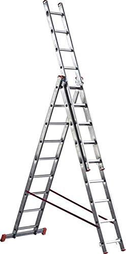 Scala alluminio telescopica marchetti orange 3 rampe x 7 9 11 12 gradini (3 rampe x 12 gradini)