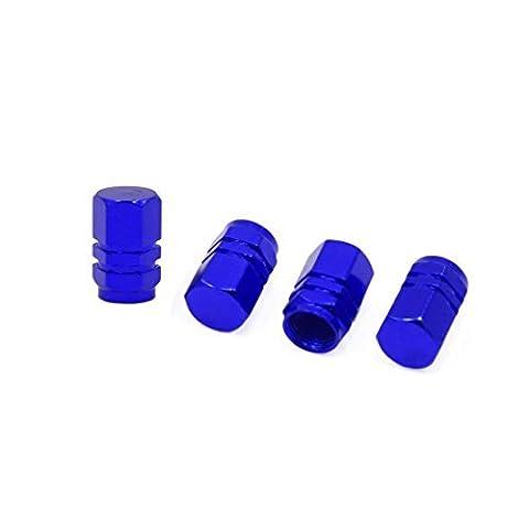 DealMux 4 Stück Blau 7mm Dia Reifen Reifen-Rad-Ventil Stem Anti Staubschutzkappen Schutzkappen für Auto