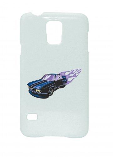 Smartphone Case blu sportivo larghezza Bau con viola fiamme America Amy USA Auto Car lusso larghezza Bau V8V12Motore cerchione Tuning Mustang Cobra per Apple Iphone 4/4S, 5/5S, 5C,