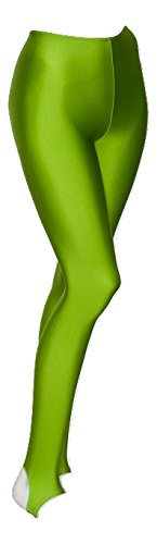 9988a3cd523ca KDT001 Girls Ladies Childrens All Colours And Sizes Nylon Lycra Shiny  Stirrup Dance Gymnastics Tights Leggings By Katz Dancewear (Lime Green, Age  7-8 Years ...