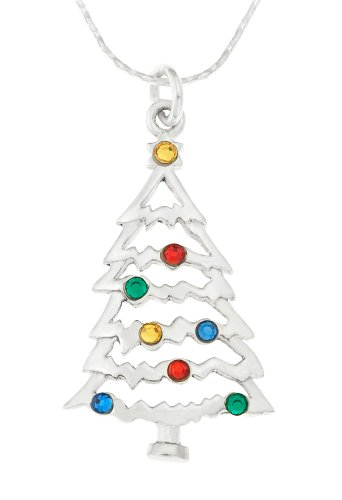 ornami-sterling-silver-and-crystal-set-christmas-tree-pendant-with-chain-of-46cm