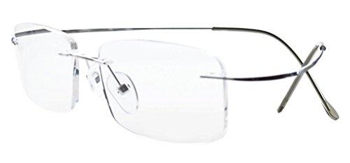 Eyekepper glasant titanio occhiali da lettura uomo donna argento +2.5