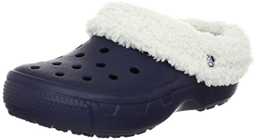 Crocs Mammoth Core Full Collar 12878, Zuecos unisex, Azul Navy/Oatmeal, 42-43