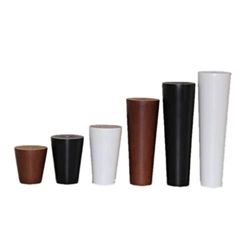 DIOE Runde Möbelbeine aus Massivholz, Ersatzbeine für Sofa/Stuhl/Schrank, handpoliert, feuchtigkeitsbeständig, ungiftiger Umweltschutz (4er-Set) -