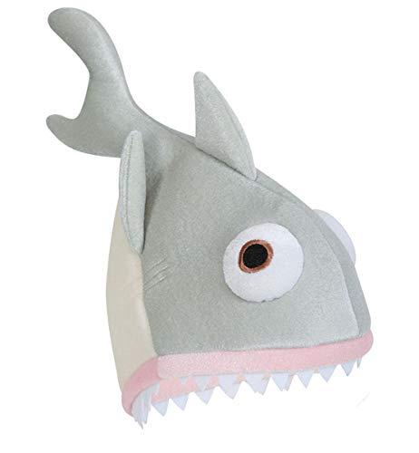 Große Hai Kostüm Weiße - Fritz Fries - Hut Weißer Hai Mütze