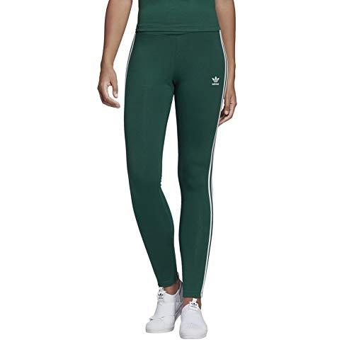 adidas Damen 3-Streifen Leggings, Collegiate Green, 38 - Adidas Capri Jersey