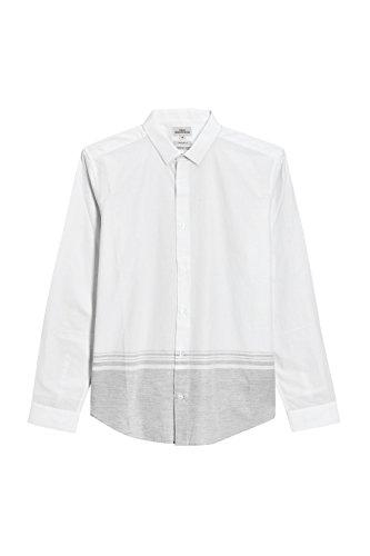 next Homme Chemise À Rayures Blanc