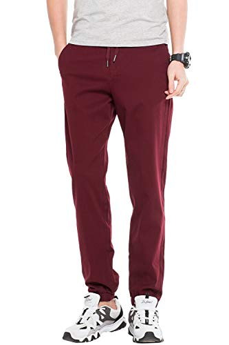 b98bf24b08a1 Emmay Men's Casual Sportwear Joggers Sweatpants Long Essential Pants Baggy  Leisure Sports Pants Track Pants Spring Autumn (Color : WineRed, Size : L)