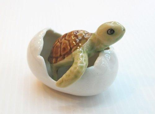 Casa Delle Bambole Miniature Ceramica Tartaruga in Uovo Figurine Animali Decorazione