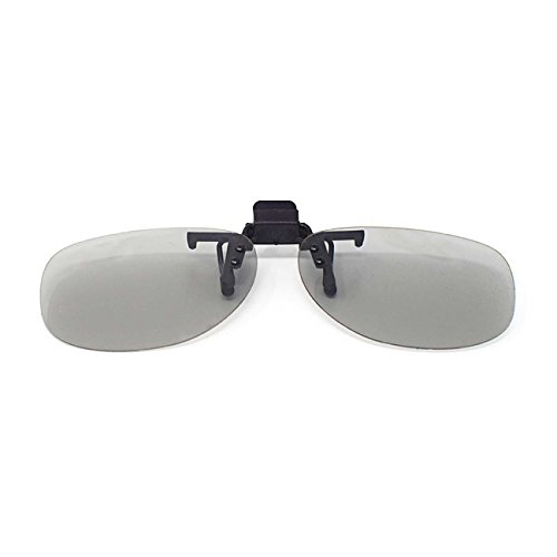 2 Pairs of Passive Universal 3D Flip Up Clip On Glasses for Prescription Eyewear
