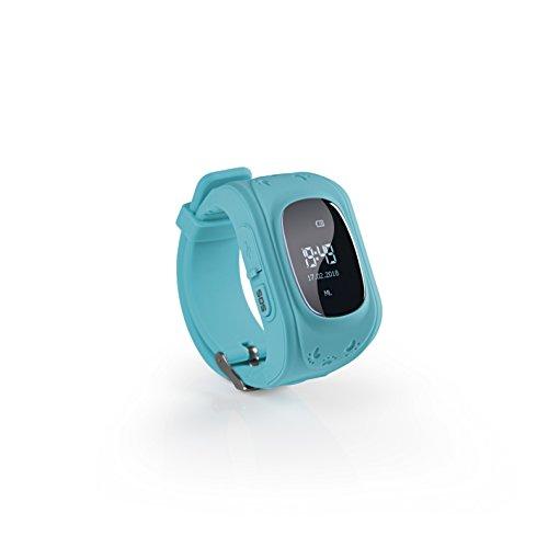 EASYmaxx Kinder Smart Watch | Smartwatch| Armbanduhr | GPS, Telefon, Sprachnachrichten, Standortlokalisierung per App, Ortung, Tracker | Kein Handy notwendig - verwendbar mit Micro Sim Karte