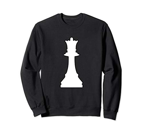 Schwarz Königin Kostüm Schach - Halloween Schach Königin Kostüm Damen  Gruppenkostüme Lustig Sweatshirt