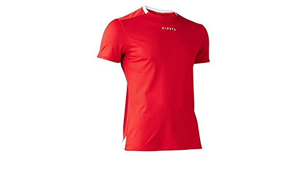 b523e79b5bc Buy Kipsta Men s Football Jersey F100 - Red Online at Low Prices in India -  Amazon.in