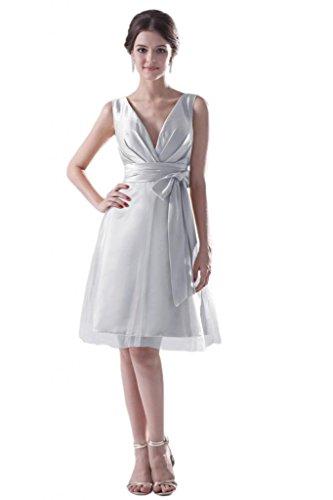 Sunvary Una spalla da donna, elegante, taglia Gowns Borgogna