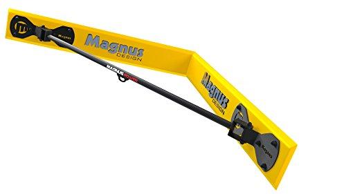 MAGNUS® POWER MP3038 Klimmzugstange (Wandmontage Ecke) + Handschuhe + Halterung für Sling Trainer / Boxsack -