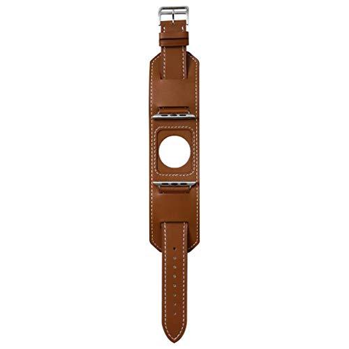 Sangle In Cuir, Chshe, Montre Gießen Von Apple 4/3/2/1 Series Armband Cuir Armband In Metall Boucle 42Mm/44Mm, Cuir 22Cm * 6Cm * 1Cm Marron -